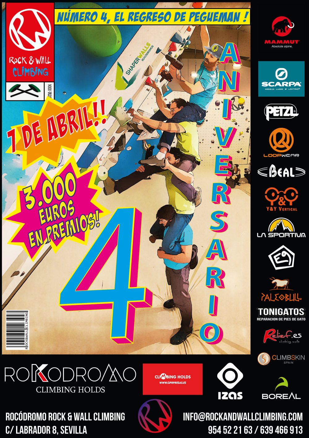 4 aniversario rock & wall